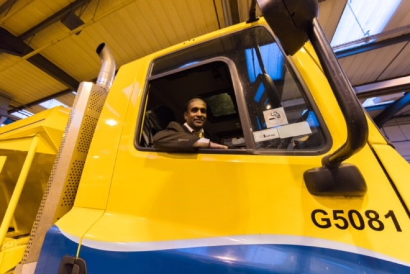 Conservative Councillor Inspects Gritting Fleet