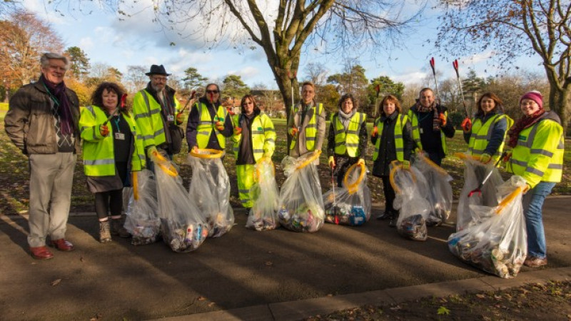 Conservative-run Wiltshire Council staff help to Clean Up Wilts in their lunch breaks