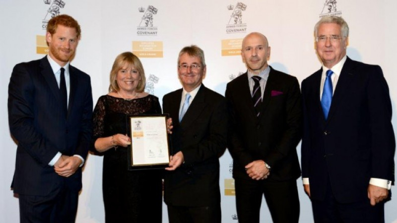 Conservative Wiltshire Council receives golden recognition for support of Armed Forces