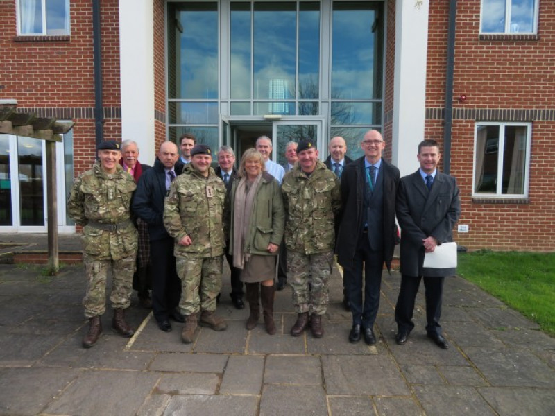 Councillor Scott views progress on Army Basing Programme in Wiltshire