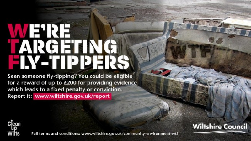 Launch of We're Targeting Fly-tippers (WTF) campaign