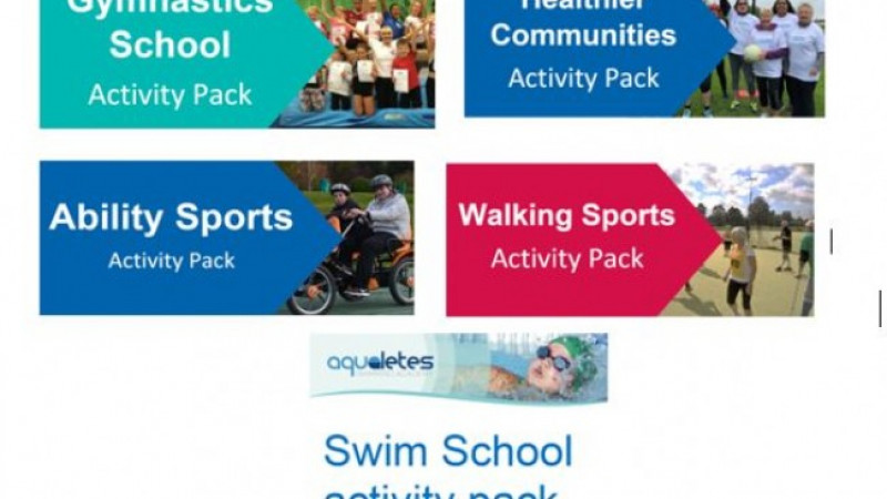 Range of Active Communities activity packs to support people