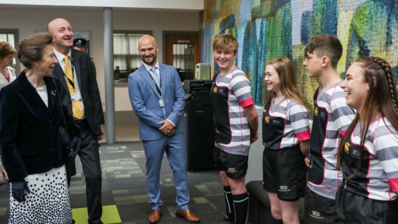 Royal seal of approval for school's multi-million-pound expansion