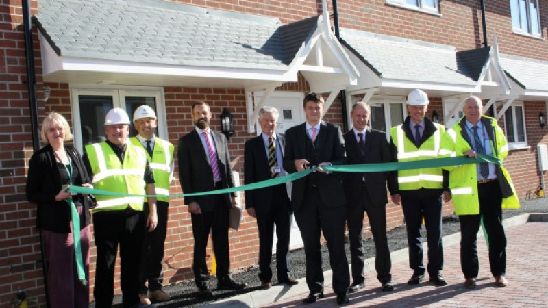 Show home unveiled as 28 new affordable homes near completion