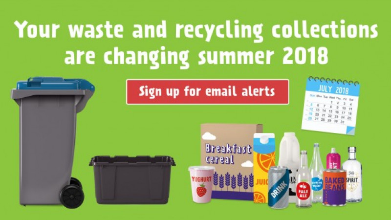 Sign up for email alerts about waste services