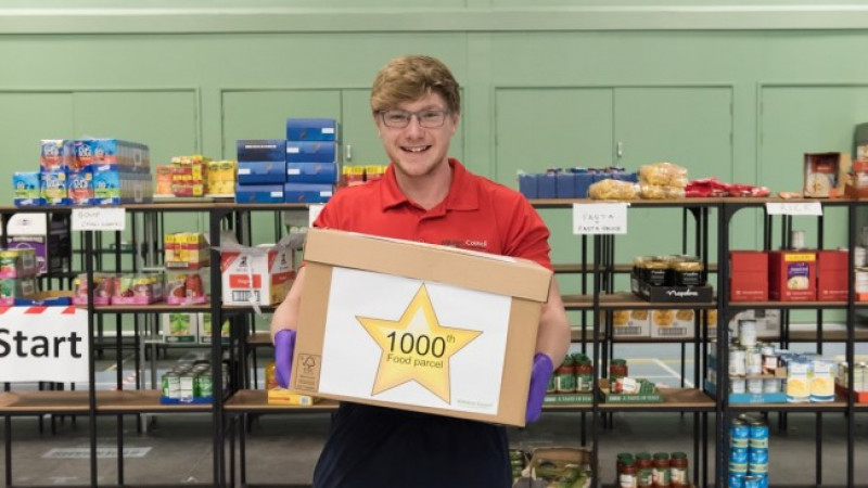 Wiltshire Wellbeing Hub delivers its 1,000th food parcel