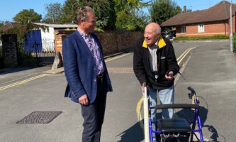 Simon Jacobs meets a resident of Devizes