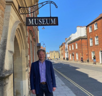 Simon Jacobs outside Devizes Museum
